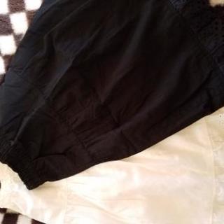 お話し中です♪手持ちのスカートをちょっと可愛くしよ⤴ペチコート裾レース🎵白&黒 - 千葉市
