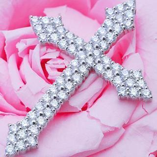 『1.570ct』贅沢天然ダイヤモンドクロス