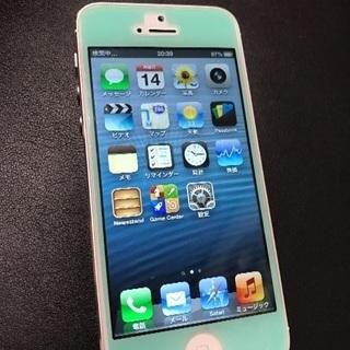 【超美品】SoftBank iPhone5 16GB ホワイト&シルバー