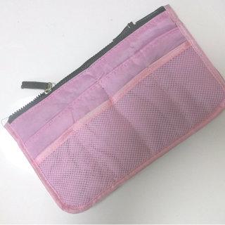 ☆新品/バッグインバッグ 大容量収納 pouch  ピンク☆
