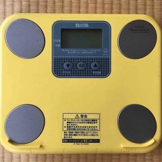 タニタの体重計(体脂肪計付)