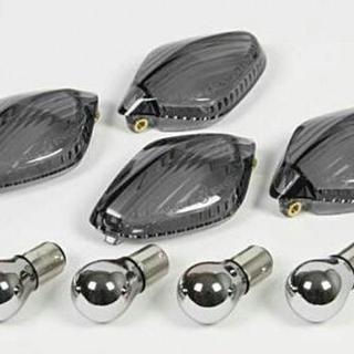 ホンダ CBR400R グロム用 スモークウィンカー&バルブセット