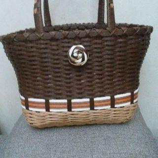 エコクラフトのバッグ茶色