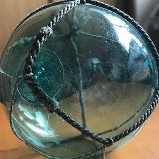 ガラス浮き玉 希少!大玉直径約35㎝ 気泡ガラス