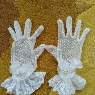 女児レース手袋