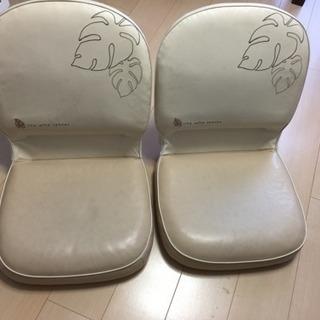 モンステラ オシャレ座椅子 折りたたみ ホワイト×ベージュ 【商談中】
