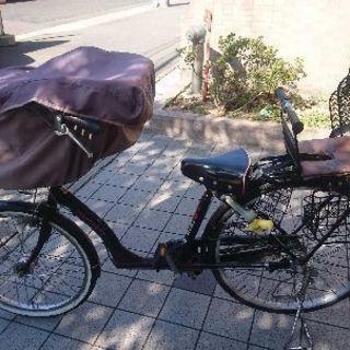 アサヒサイクルの3人乗り自転車です。点検済み。前後輪2017年6・...