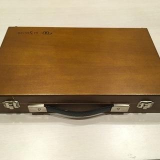 【未使用】KUSAKABE 水彩木箱セット スタンド、バケツ付き