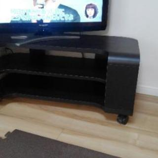 黒色テレビボード