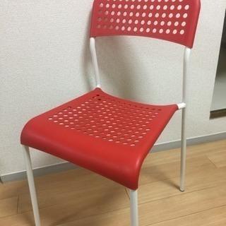 IKEA ADDE チェア(RED)