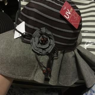 夏用婦人帽子❣️UV日焼け防止加工❣️エレガント/新品未着用タグ付