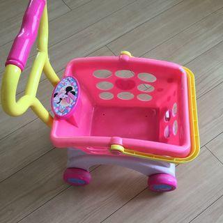 子供用 お買い物カート ショッピングカート 人形用ベビーカー