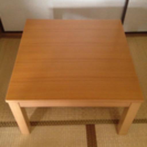 【取引完了】北欧スタイル♪ 無印良品 楕円形 タモ材 こたつテーブル の