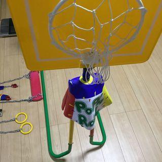 子供用 鉄棒ブランコ ポップンロール(室内・屋外)バスケット等4...