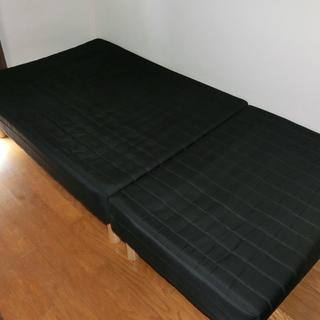 【値下交渉可、8月中〆】ベッド(脚付きマットレス) 分割式 シン...
