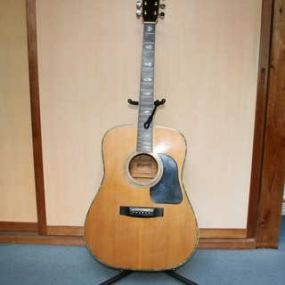 Morrisのアコースティックギター・ハードケース・スタンドの3点セット