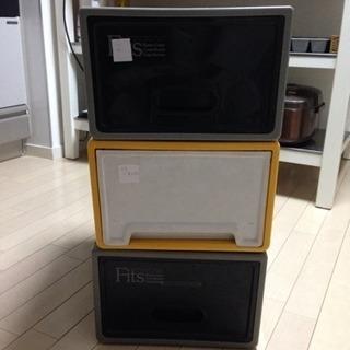 プラスティックケース 3個