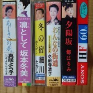 演歌カセットテープ5本+ おまけ新品カセット1本