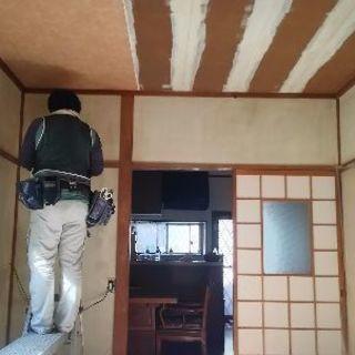 和室壁~壁紙へ 江戸間 6畳壁 約...