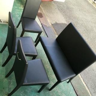 5人掛けにアップ ダイニング用 食卓イス 椅子 チェア 4脚