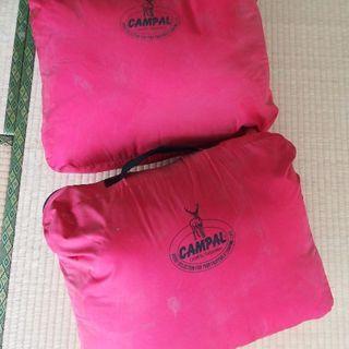 赤い寝袋2個&おまけ! シェラフ