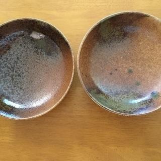 焼物の和皿 2枚セット