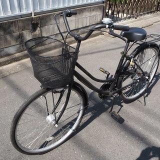 中古自転車 26インチ ママチャリ オートライト 外装6段