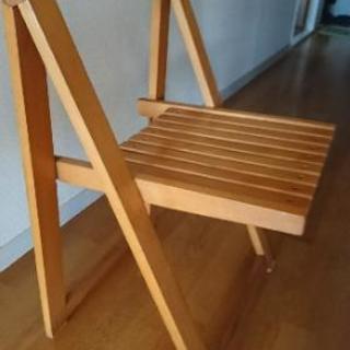 (中古) 折り畳み ウッドチェア