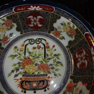 鉢皿(紋様、古伊万里風、大深鉢)花と紋様 [No.6 ]