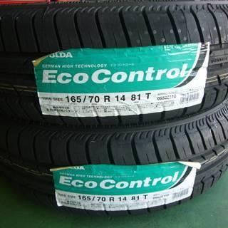 新品タイヤ FULDA Eco Control 165/70-14 2本