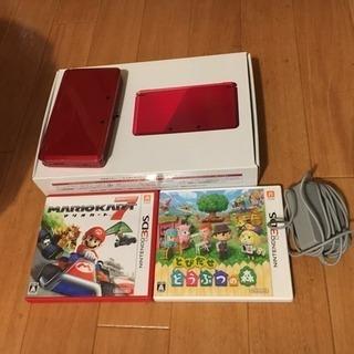 ニンテンドー3DS(箱なし)、マリオカート、どうぶつの森