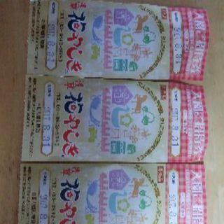 花やしき入園券有効期限8月末3枚セット
