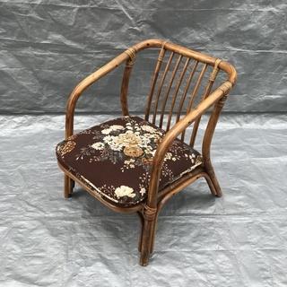 清掃済み 楽座椅子 スタッキングチェア 花柄 和風 イス USED...