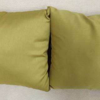 正方形 草色(グラスグリーン)クッションセット 40x40㎝ 2個...