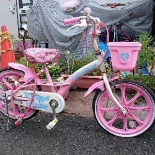 女児の自転車18インチ。ジャンク🚲