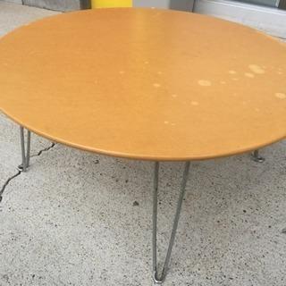 木製 折り畳み 丸テーブル