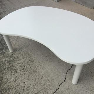 ホワイト ローテーブル