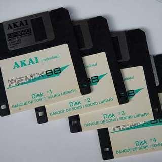 AKAI サンプラー REMIX88用ディスク
