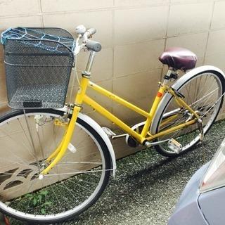 訳あり!黄色い自転車 27インチ※シティサイクル※日本製
