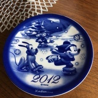 【未使用】クリスマス イヤープレート 2012 Disney