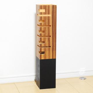 タモ材風 美木目調 木製間接照明 スタンドライト