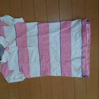 ポロシャツ(ピンクボーダー)
