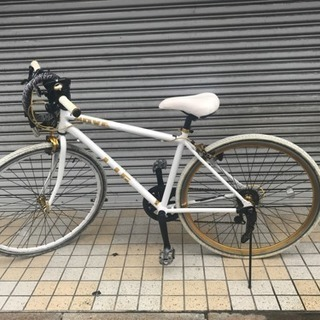 クロスバイク LIG (白) +鍵付き @杉並区浜田山