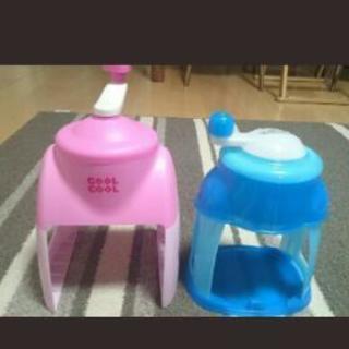 かき氷器二つとショップナイロン袋、紙袋など交換してください!