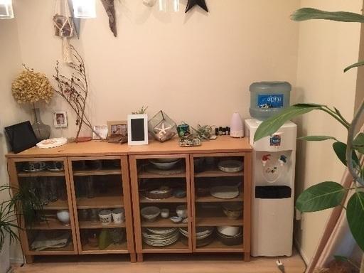 無印良品 北欧 美品 木製キャビネットおしゃれ 食器棚 の画像