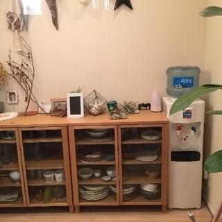 値下げしました!無印良品 北欧 美品 木製キャビネットおしゃれ 食器棚 の画像