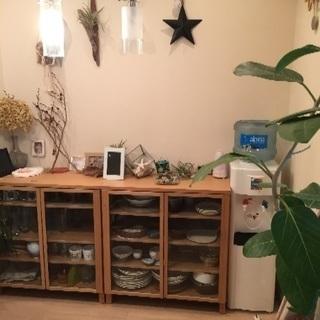 値下げしました!無印良品 北欧 美品 木製キャビネットおしゃれ 食器棚  - 川崎市