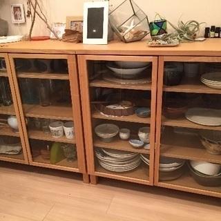 値下げしました!無印良品 北欧 美品 木製キャビネットおしゃれ 食器棚  - 家具