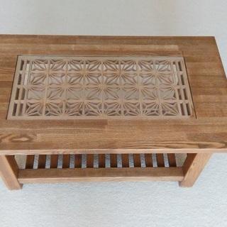 一作年前に百貨店で購入した手作りの座卓をお譲りします