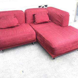IKEA 二人掛けソファ 701.607.40 赤